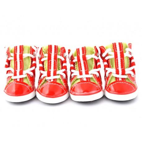 """Лаковые кроссовки """"Beauty"""", красные, JML"""