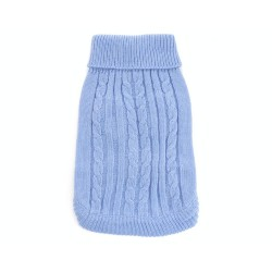 """Вязанный свитер """"Косичка"""", голубой"""