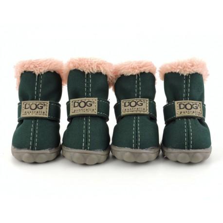 """Ботиночки """"DOG"""", темно-зеленые"""