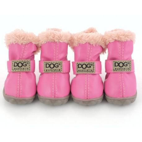 """Ботиночки """"DOG"""", ярко-розовые"""