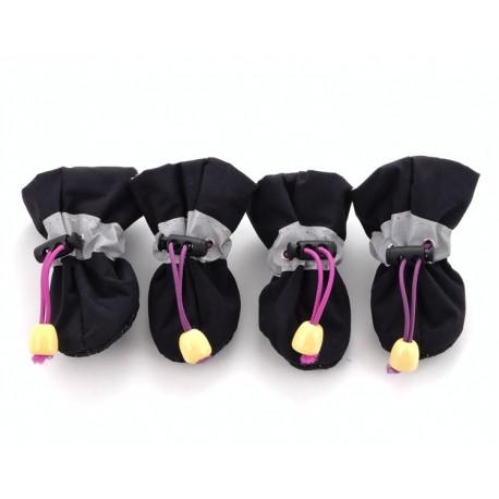 """Мягкие ботиночки """"Мишка"""", черные"""