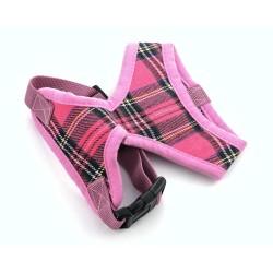 """Шлейка """"Шотландия"""", розовая"""