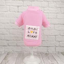 Толстовка «Baby love Mommy», розовая