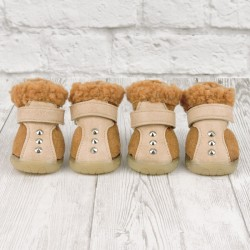 "Ботиночки ""Шип"", коричневые, JML"