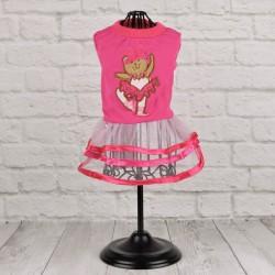 """Платье """"Мишка-балерина"""", розовое"""