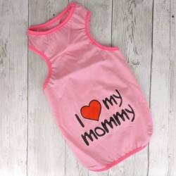 """Майка """"I Love my mommy"""", розовая"""