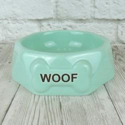 """Миска """"Woof"""", голубая"""