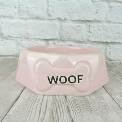 """Миска """"Woof"""", розовая"""
